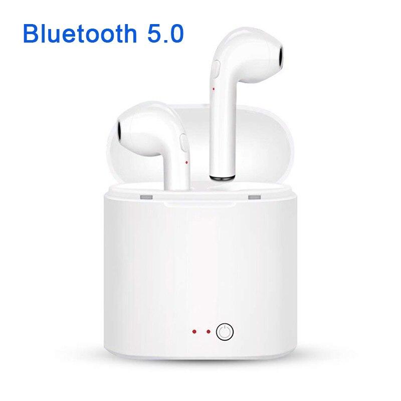 Neue i7S TWS Bluetooth 5,0 Kopfhörer Kopfhörer Stereo Bass Wireless Headset Ohrhörer mit Mic Lade Box für Alle smartphone