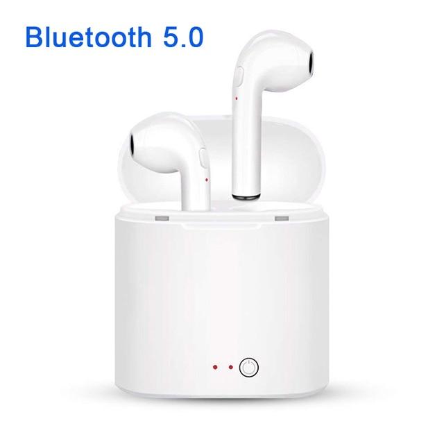 Новый i7S СПЦ Мини Bluetooth 5,0 наушники стерео бас беспроводной гарнитура с микрофоном для телефона xiaomi samsung