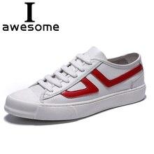 Mens Fashion Leather Shoes Lace Up Casual Genuine Flats Male Shoe Sneakers Leisure Zapatos De Hombre