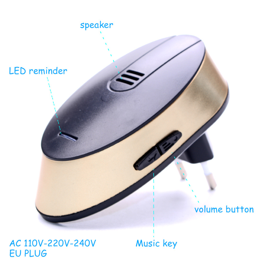 SMATRUL Wireless doorbell Waterproof 150M Remote smart Door bell CHIME EU AU Plug AC 110V-220v gold 1 Button 1 2 receiver 6