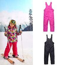 2018 Unisex children Ski Pants Outdoor Sports Kids Suspenders Trousers Windproof Waterproof Warm Winter Snow Sweatpants