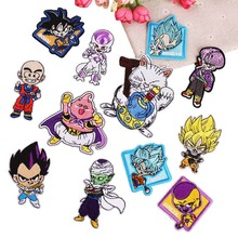 New  Anime Dragon Ball Goku Cool Iron on Embroidery Patch Clothes Patches for Clothing Stickers Garment Diy Bag Accessories