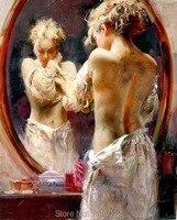 Miễn phí Vận Chuyển Cao Chất Lượng Tay Painted Impressional Nude Sexy Girl Tranh Sơn Dầu Trên Vải Figurative Phụ Nữ Trừu Tượng Chân Dung