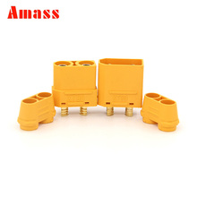 1 Pair Amass XT90H Connector + Cover Male & Female   For RC Lipo Battery Scooter