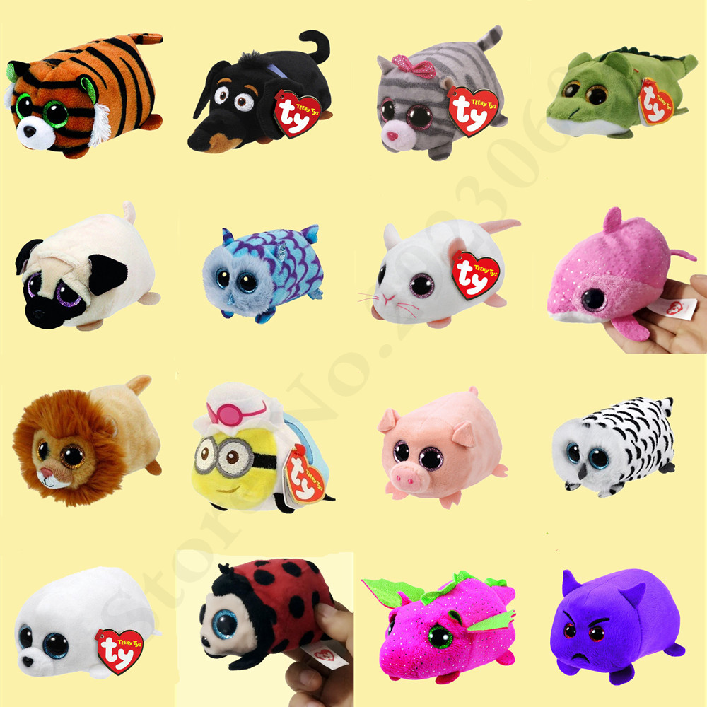 TY Beanie Boos Teeny Tys 10cm Unicorn Fox Dog Owl ICY White Seal Cat Fish Dragon Rabbit Cow Plush Toy Doll Christmas Gift super cute plush toy dog doll as a christmas gift for children s home decoration 20