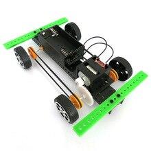 Головоломка DIY Собранный автомобиль игрушка Дети Раннее Образование принадлежности физика научный эксперимент простой обучающий инструмент принадлежности игрушки