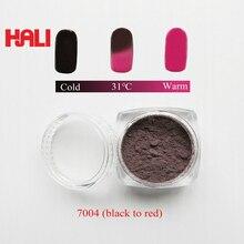 Verkoop kleur naar kleur thermochrome pigment, thermochrome poeder, hot actieve poeder, 31C zwart naar rood, 1 partij = 10 gram, gratis verzending ..