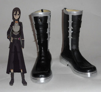 New Anime Cos Sword Art Online Kirigaya Kazuto Shoes SAO GGO Phantom Bullet Kirito Cosplay Boots