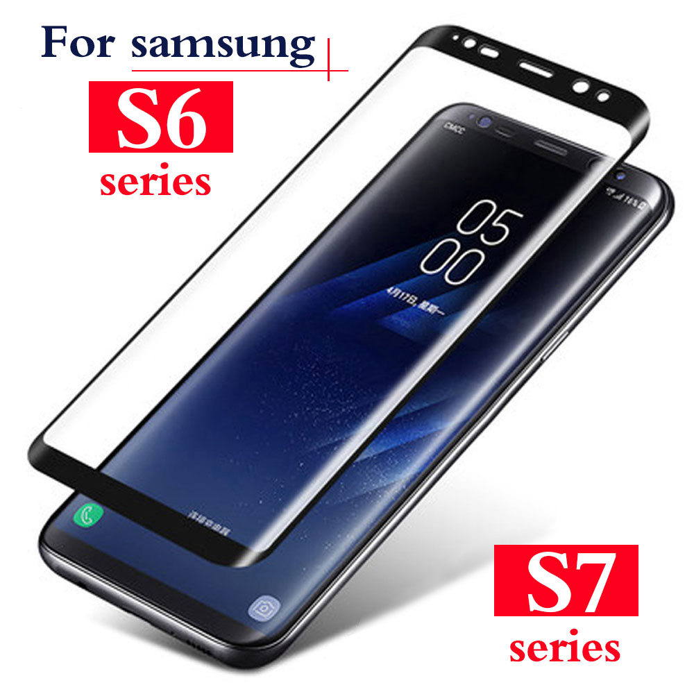 protective glass for samsung galaxy s6 s7 edge plus on the s 6 7 tempered glas phone cover sereen protector protection film 3d image