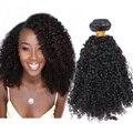 3B 3C 7А Перуанский Странный Вьющиеся Волосы 3 Шт. Перуанский Девственница волосы Естественным Вьющиеся Человеческих Волос Weave Расширения Мед Королева Волос продукты