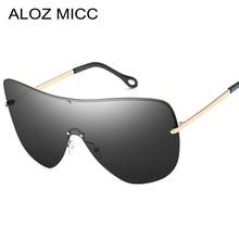 ALOZ MICC Fashion Oversized Polarized Sunglasses Women Brand Designer Men Big Frame Siamese Protection Sun Glasses UV400 Q245