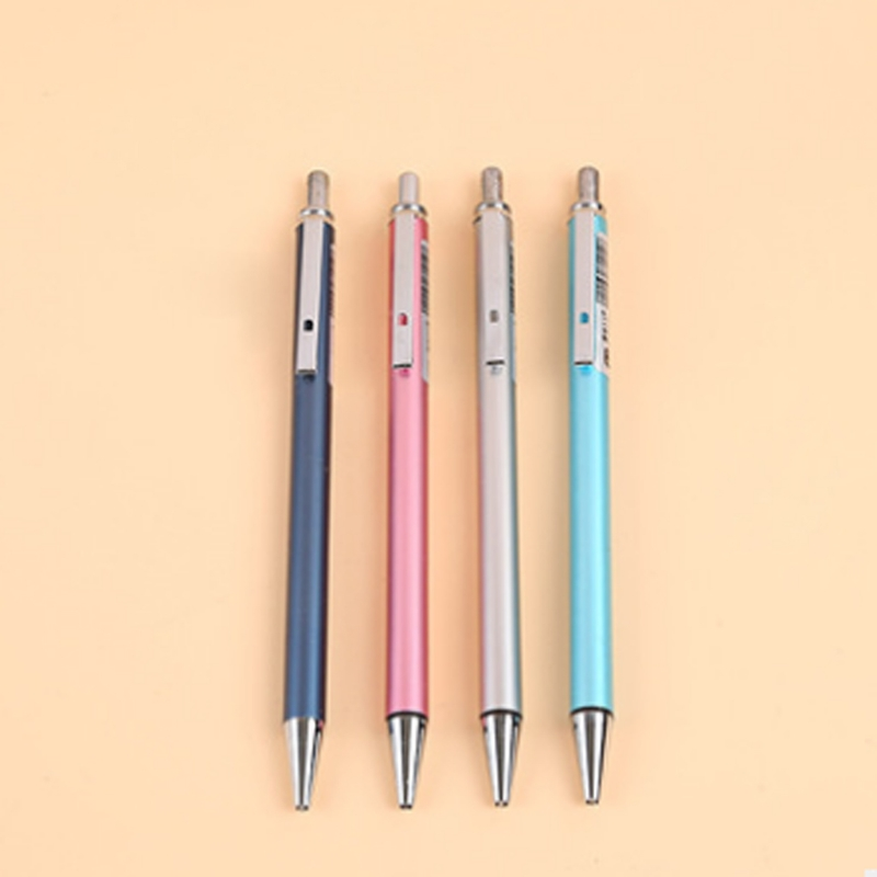 0 5 0 7mm Metal Mechanical Automatic Pencil For Writing Drawing School Supplies active pencil in Mechanical Pencils from Office School Supplies