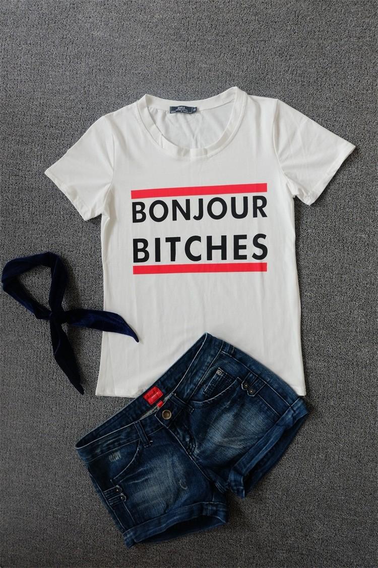 Must või valge T-särk naistele