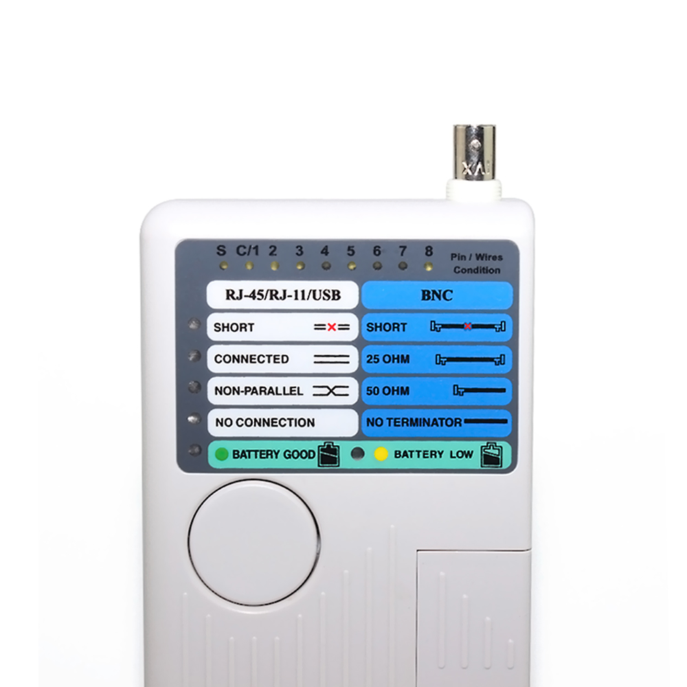 New Portable Ethernet Network Cable Tester Remote RJ11 RJ45 USB BNC LAN For UTP STP LAN Cables Tracker Detector Tool Kit