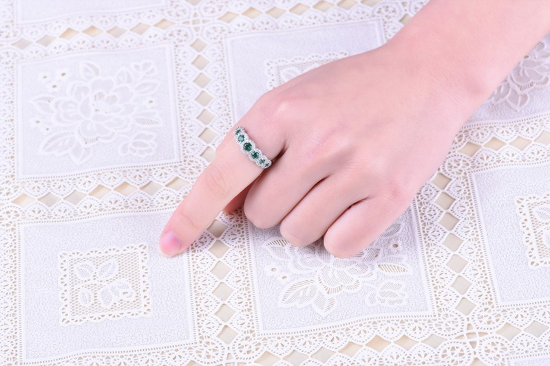 Simulated Diamond sterling silver rings jewelry (3)