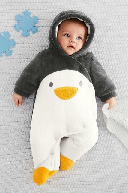 V-TREE NUEVOS mamelucos del invierno del bebé de lana pijamas niños traje caliente lindo bebé pijamas monos de invierno para recién nacidos niños traje para la nieve