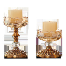 Fashion new creative golden crystal candlestick home decoration accessories modern table
