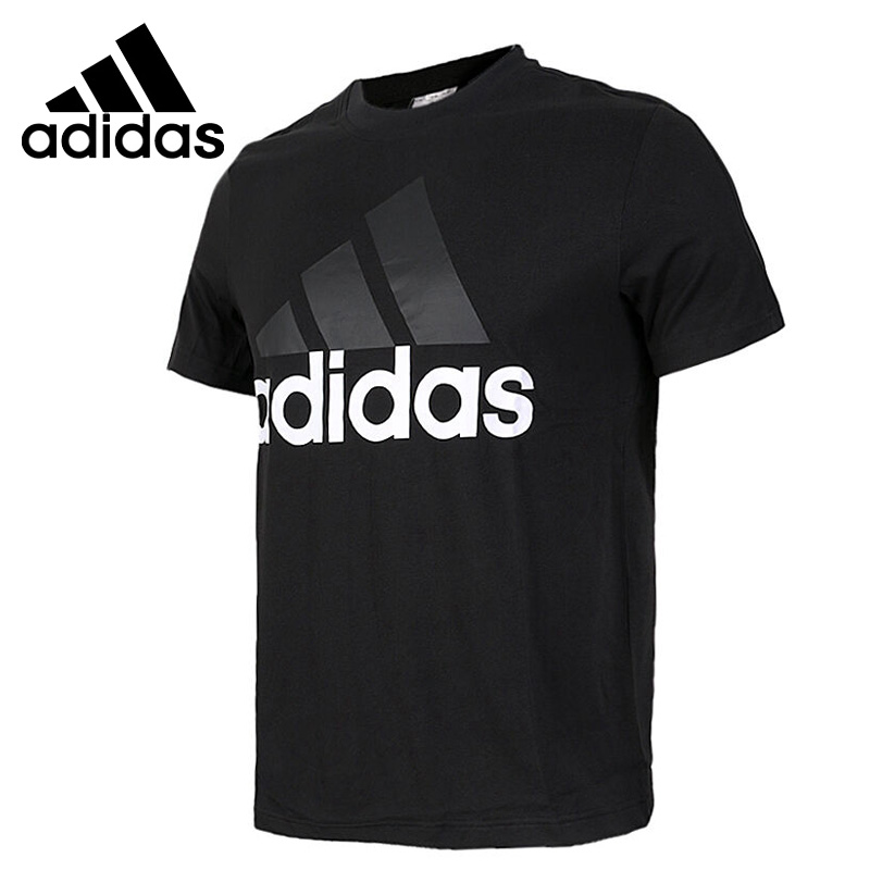 US $31.25 18% OFF|Original New Arrival Adidas ESS LINEAR TEE Men's T shirts short sleeve Sportswear in Skateboarding T Shirts from Sports &