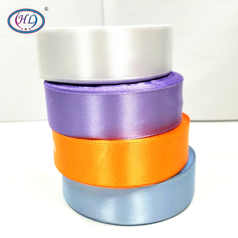 HL 4 rouleaux (100 yards) 25mm largeur satin ruban décoration de mariage artisanat emballage ceinture maison produits bricolage tissage 4 couleurs A158