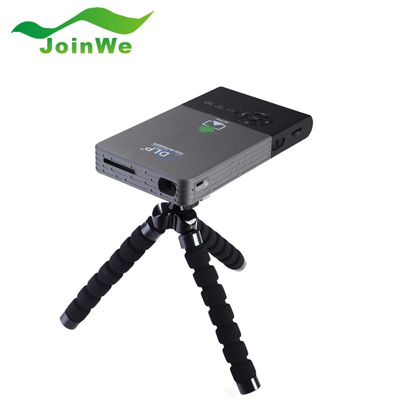 C2 Smart Mini Projector Portable Wifi Project DLNA Android 4.4 Wifi Bluetooth 4.0 Built in 2500mAh Battery Portable Projector