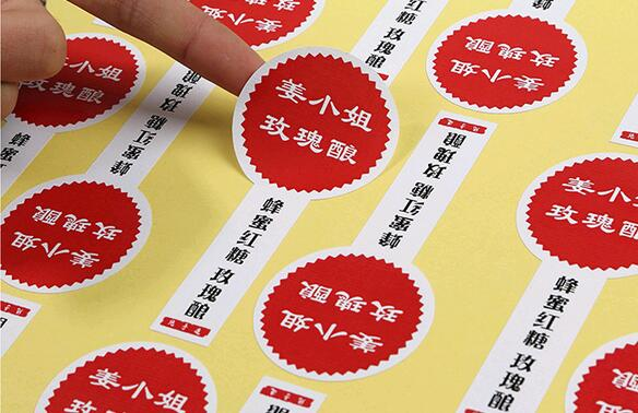 moq 500 pcs Custom logo text paper stickers label print, glossy/matte paper transparent PVC sticker printing