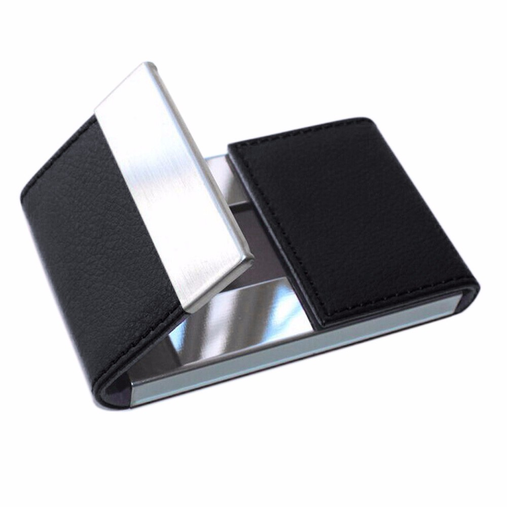 Credit Card Package Card Holder Double Open Business Card Case 2018 new  sales high quality metal men card holder Carte Pocket-in Card   ID Holders  from ... f2bad68f4