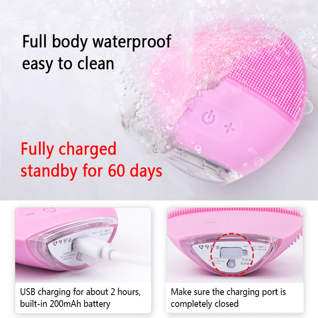*ALL NEW* Waterproof Electric (USB Rechargeable) Facial Cleansing Brush | Face Massager