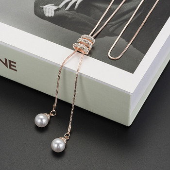 Charm Crystal Pearls Necklace Luxury Necklace3