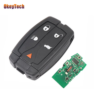 OkeyTech 5 Button 315/433Mhz ID46 Chip with Insert Blank Blade Remote Key For Land Rover Freelander 2 LR2 Sport Smart Key Card