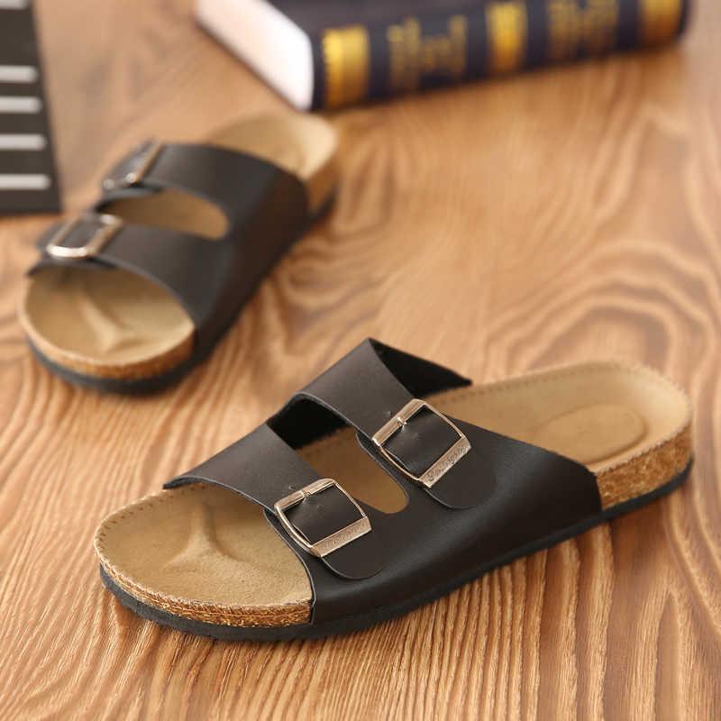 Erkek ayakkabısı terlik sandalet zapatos hombre flip flop Erkekler Sandalet Unisex Severler Mantar Erkek Yaz Plaj Flip Rahat sandalias çin