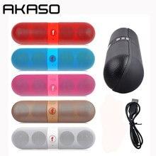 AKASO Y1 Mini Altavoz Bluetooth Altavoz Inalámbrico Portátil Al Aire Libre Sistema de Sonido de Música Estéreo 3D Surround Apoyo TF AUX USB