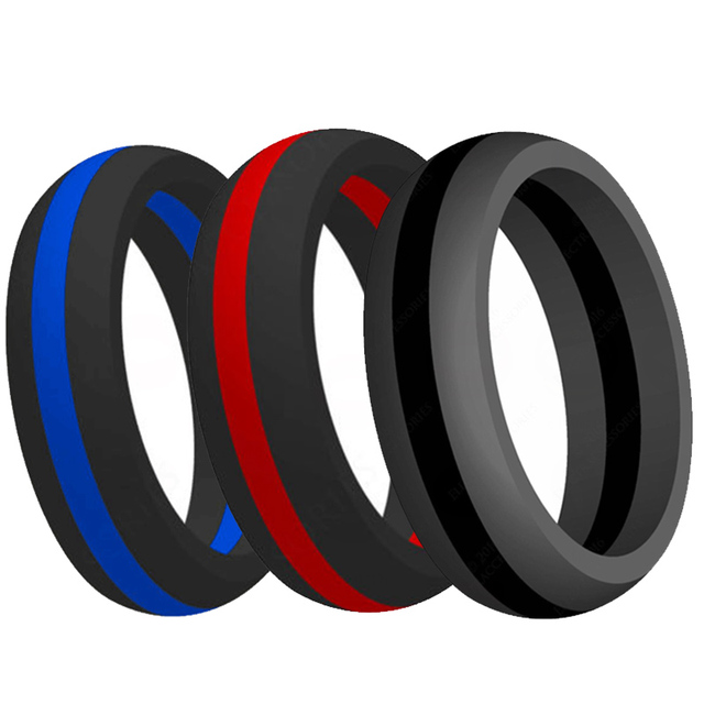 9MM Size 5-15 Silicone Ring Rubber Multi Color Hypoallergenic Crossfit Flexible