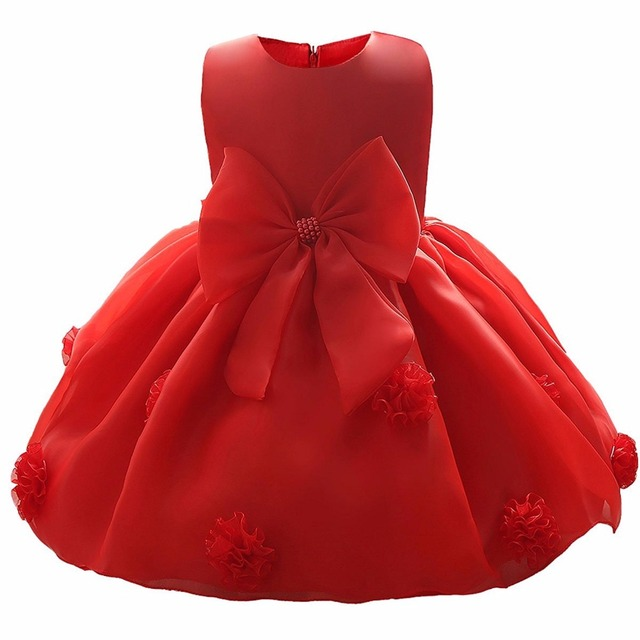 Newborn Princess Girls Flower Dresses Events Kids Clothes Baptism 1st Birthday Infant Baby Party Girl Dress Christening Clothing