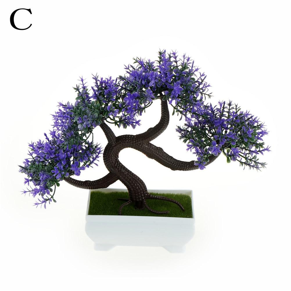 Artificial Bonsai Trees Square Pots Bonsai Tree Plant Pine Tree ...