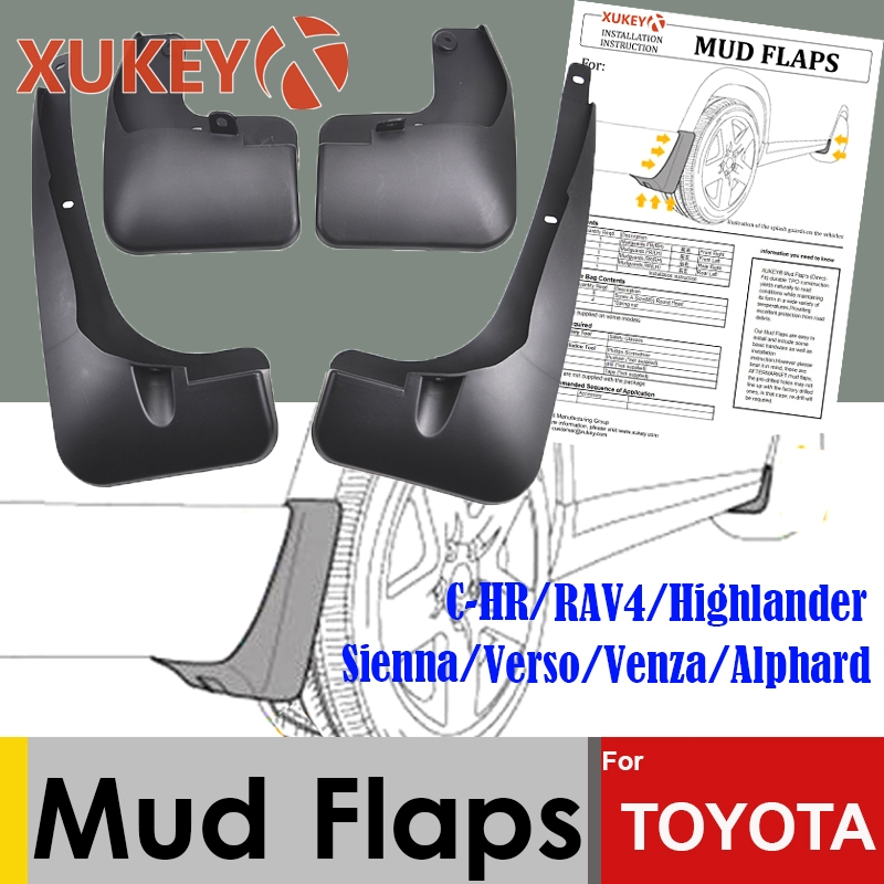 Błotniki samochodowe dla Toyota C-HR CHR RAV4 Highlander Venza Sienna Verso Alphard przednie tylne błotniki błotniki błotniki