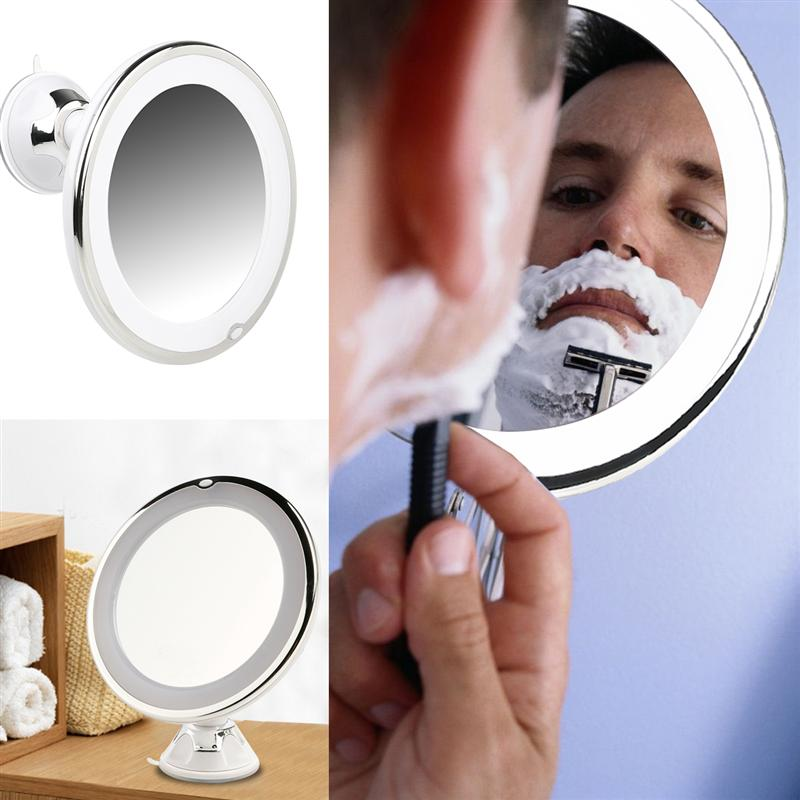 Image 5 - RUIMIO Magnifying Makeup Mirror with Power Locking Suction Cup Bright Diffused Light and 360 Degree Rotating Adjustable Arm-in Makeup Mirrors from Beauty & Health
