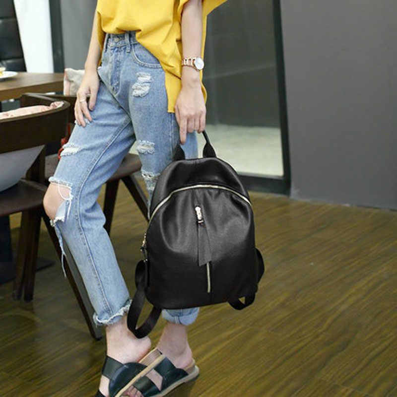 2020 ホットな新カジュアル女性のバックパック女性puレザー女性のバックパック黒bagpackバッグカジュアル旅行バッグバックパック
