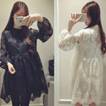 New  Lace Maternity Dress Long Sleeve  Pregnant Dress  Robe Femme Enceinte  Maternity Clothes 6MDS009