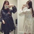 New Vestido de Renda de Maternidade de Manga Comprida Maternidade Roupas Grávida Vestido Robe Femme Enceinte 6MDS009