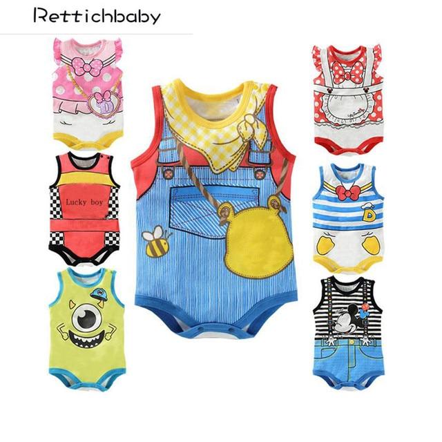 479f2879 Venta al por menor nuevo de moda de verano recién nacido de manga corta  estilo mamelucos