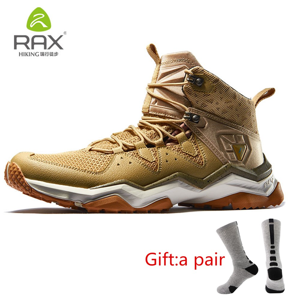 RAX Men Mountain Shoes Outdoor Hiking Shoes for Summer Trekking Sneakers Breathable Lightweight Outdoor Shoes With gift