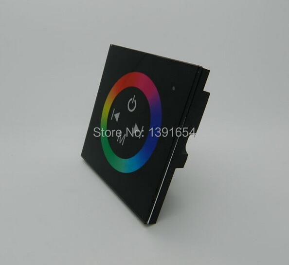 DC12-24V Touch Panel RGB LED Controller Väggfäste Fullfärg Dimmer Control TM08 för 5050SMD RGB LED Strip Light FreeShipping