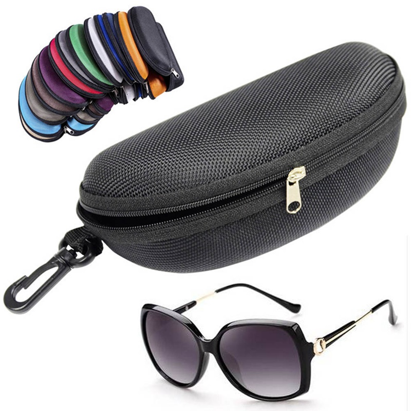 Protector-Box Sunglasses Hard-Case Useful Fashion Shell Portable Zipper 167x77x64mm 1pc