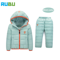Children Set Boys Girls Clothing Sets Winter 1 7Year Down Jacket Trousers Waterproof Snow Warm Kids