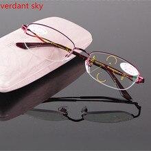 Прогрессивные умные очки с мультифокусным зумом, чтобы увидеть близкие и дальние мужчины старшего возраста очки для чтения TR90 очки для чтения с коробкой