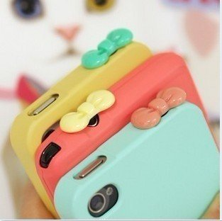 New arrival Cute bow Anti Dust Plug earphone Jacket  Minipol ear cap Stopple Accessories For iphone ipad 100pcs/lot Wholesale