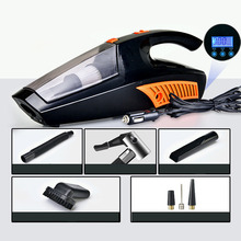 Car Vacuum Cleaner 120W Cyclonic Wet Dry Portable Handheld Vacuums Cleaner Multifunction with Tire Pressure Detection Air Pump
