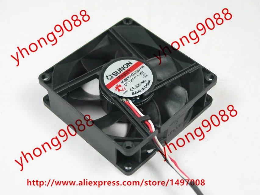 SUNON ME80251VX-Q060-F99 Server Square Fan DC 12V 1.9W 80x80x25mm