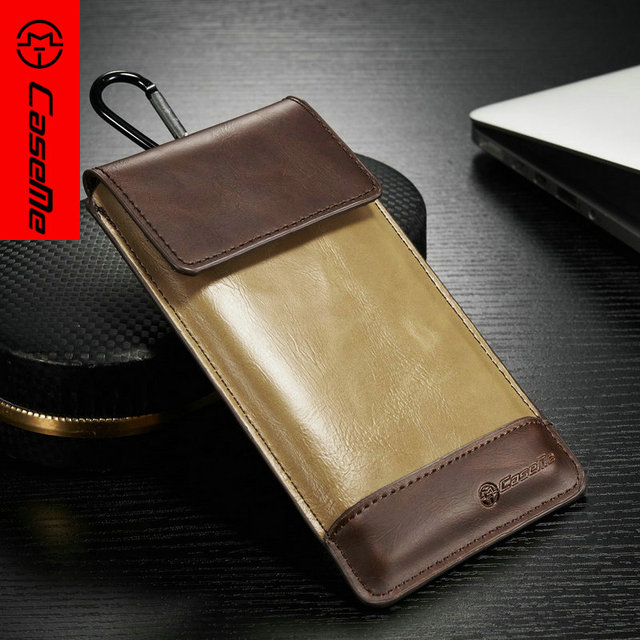 CaseMe Luxury PU Leather Universal Outdoor Phone Bag for iPhone 6 6s 6s plus for Samsung Galaxy S6 S6Edge High Quality