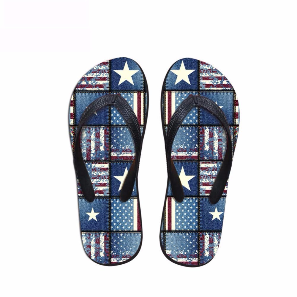 Noisydesigns Men's flip-flops boys sandals male star stripe national - Men's Shoes - Photo 4